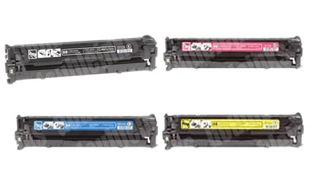Generic Remanufactured Toner Cartridge Replacement for HP CB540A ( Black,Cyan,Magenta,Yellow , 4-Pack ) (Cb542a Yellow Remanufactured Toner)