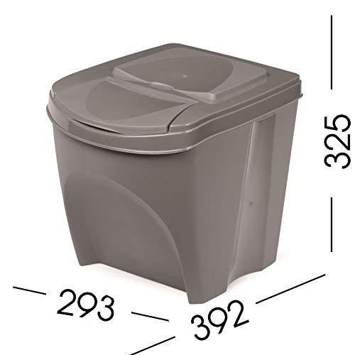 Stolmet Cubo de Basura de plástico con Tapa abatible de 20 litros: Amazon.es: Hogar