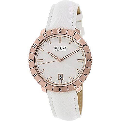 Bulova Accutron II Moonview White Leather and Dial ()