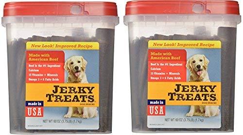 Jerky Treats Tender Beef Strips Dog Snacks, 60 oz, Large (2 Pack)