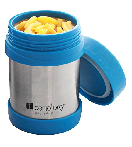 Bentology Stainless Steel Vacuum Insulated Food Jar - 11 oz Teal - Lunch Jar for Soup and more - Contains no Phthalates, BPA, or PVC