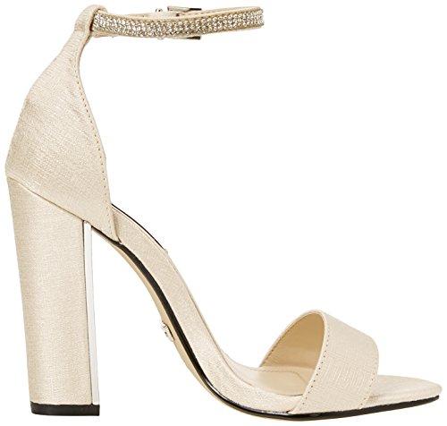 Col Aperta Ankle 00 Avorio Quiz Sandals Tacco Scarpe Punta Donna Diamante nude xO0Sgwqg1I