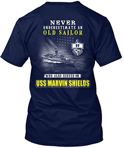 (Sigma Fores- USS Marvin Shields ff-1066 Never underes - T-Shirt - Get It Now! Navy)