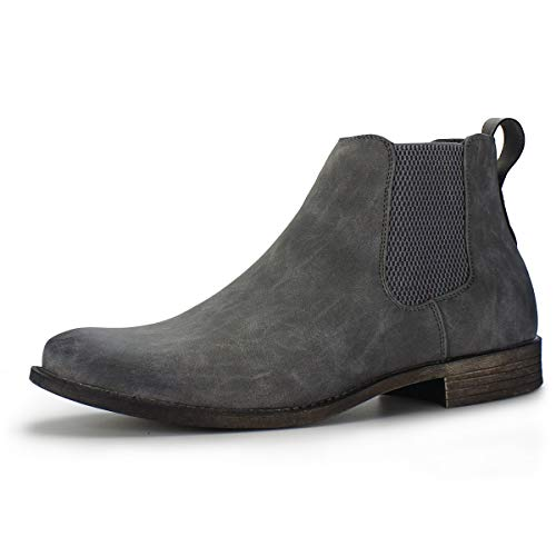 Hawkwell Men's Formal Dress Casual Ankle Chelsea Boot, Grey Manmade, 10 M US (Best Ankle Boots With Dresses)