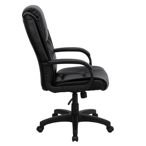 high back black leather executive swivel office chair ebay