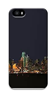 iPhone 5 5S Case Dallas Texas Night Skyline 3D Custom iPhone 5 5S Case Cover