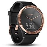 Garmin 010-01850-06 Vivomove HR - Sport Hybrid Smartwatch, Black/Rose Gold, 0.85""