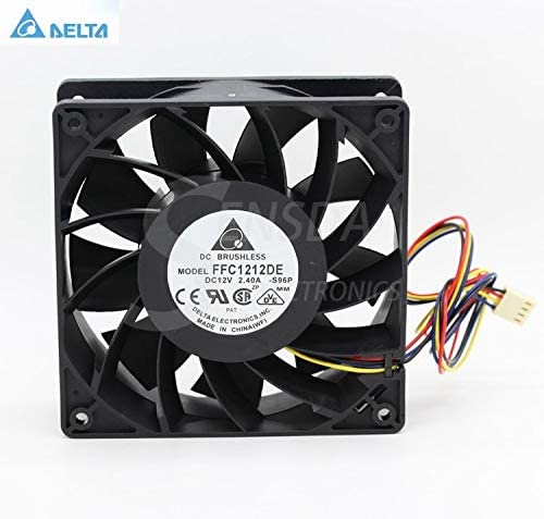 for delta FFC1212DE S96P 12CM 120mm 12038 DC 12V 2.4A industrial server inverter power supply cooling fans