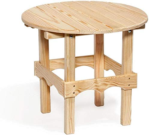 Leisure Lawns Amish Made Yellow Pine Round Side Table Model #76 - Ships Free Within 2 to 3 Weeks ()