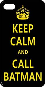 Keep Calm & Call Batman with Crown Tinted pc Case for Apple iPhone 5 or iPhone 5s