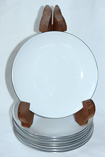 Centura White Coupe - Corning Centura White PLATINUM EDGE Coupe Bread and Butter Plates - Set of 8