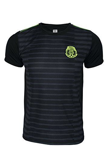 Rass Sport Copa America Centenario Soccer Jersey - MEXICO - MDYG0103-BLK-L/XL (Us Soccer Centennial compare prices)