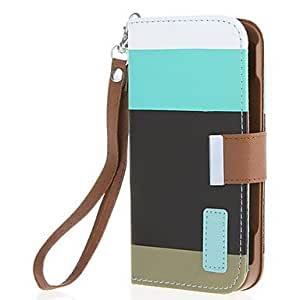 Faux Leather Wallet Case Flip Faux Leather Stand Cover with Card Holder for Samsung Galaxy S4 i9500/i9505