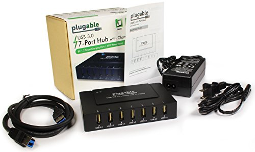 Plugable 7 port usb 3 0 superspeed charging hub with 60w - Plugable 7 port usb 3 0 superspeed hub ...