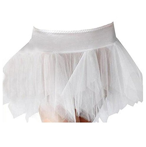 Blidece Women's Plus Size Classic Adult Tutu Skirt Great princess tutu dance skirt. Tulle White (Burning Man Cat Costume)