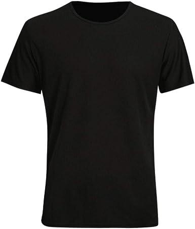 Flyshow - Camiseta Blanca para Hombre, Cuello Redondo, Manga ...