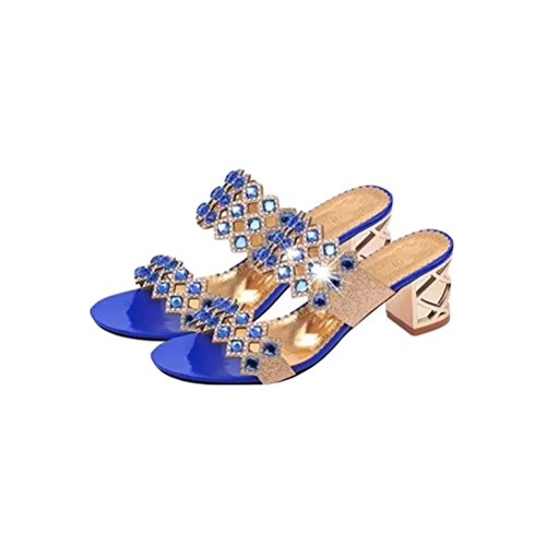 La 35 Alta Sandali Diamanti Tallone Highxe Aperti Blue Di Alti Moda 36 Tacchi Era Aperti In xzwwqS1O