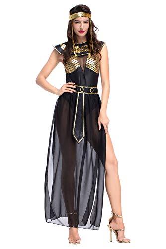 CosplayCos Women's Egyptian Goddess Cosplay Halloween Costume Isis Sexy Dress Black]()