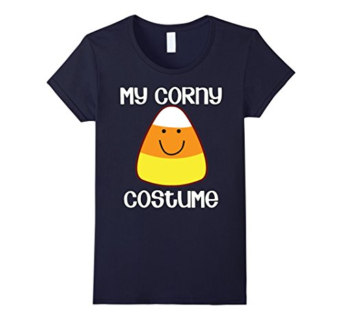 Womens My Corny Costume Simple Halloween Candy Corn T-shirt Medium (Simple Halloween Costume Ideas For Women)