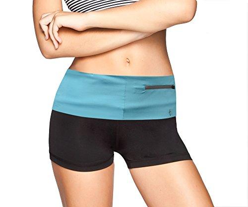 JenniWears Running Belt Zipper Pocket for iPhone 6/6s/7/7 Plus, Fitness Workout Terra Belt for Women and Men - Waist Fanny Pack for Cycling Hiking Walking Climbing ()