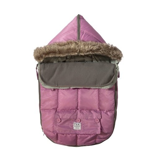 "7AM Enfant""Le Sac Igloo"" Footmuff, Converts into a Single Panel Stroller and Car Seat Cover, Pink Large"