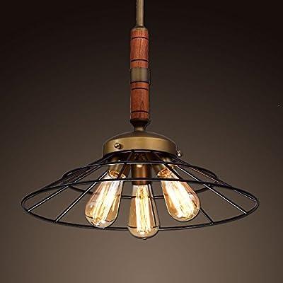 Ecopower Vintage Metal & Wood Chandelier Kitchen Pendant Lighting Fixture