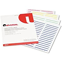 Universal 80111 Laser Printer File Folder Labels- 3-1/2 x 2/3- Assorted- 750/Pack