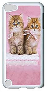 iPod Touch 5 Case iPod Touch 5 Cases Pretty Kittens Polycarbonate Hard Case Back Cover for iPod Touch 5 White