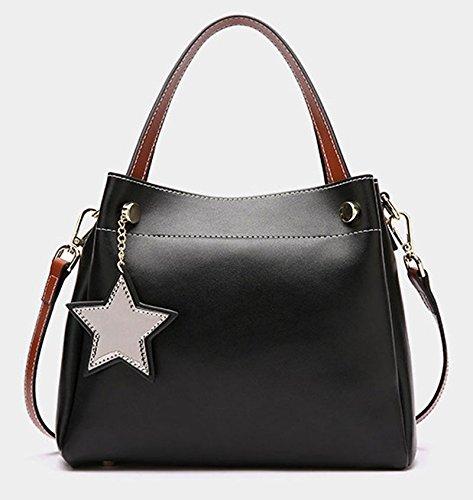 Female Bag Bag Bucket Bag Wind European And American Female Bag Hanging Bag Ladies Handbag Large Capacity (dark Green) Black