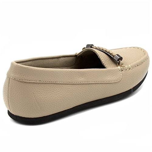 Nautica Women's Beckington Loafer With Braided Buckle Fashion Shoe Taupe Tumbled vICrPM