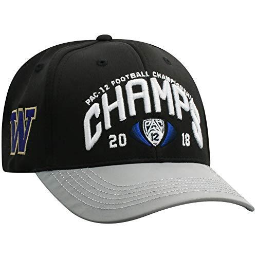 Top of the World Washington Huskies 2018 PAC-12 College Football Champions Locker Room Hat Cap