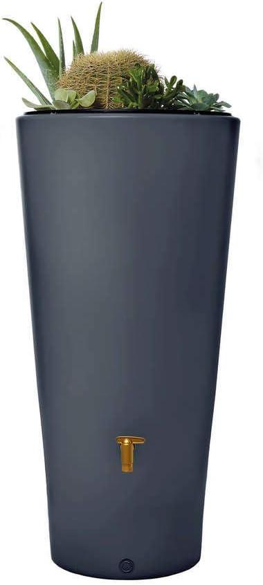 VASO - Kit de depósito de agua 2 en 1 de 220 litros, grafito: Amazon.es: Jardín