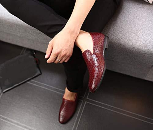 Uomini scarpe casuale scamosciato PU Grande 48 particolarmente Rosso Inghilterra stile Dimensione Bebete5858 Extra Uomo Pelle BxnqwPvXa