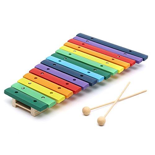 VIDOO 15 xilofono Glockenspiel In Legno Colorato Tono Educativo Giocattolo Strumento Musicale Di Percussione