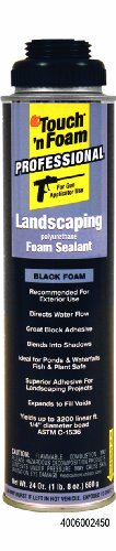 Black Pond Foam (Touch 'n Foam 4006002450 Pro Exterior Black Gun Foam)