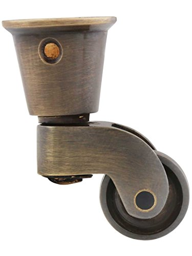 Solid Brass Round-Cup Caster with 3/4