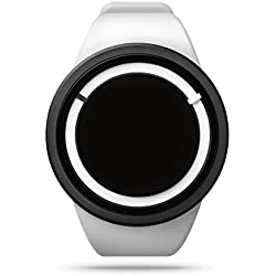 ZIIIRO Eclipse Swiss Super-LumiNova Unisex Silicone Watch (White Snow)
