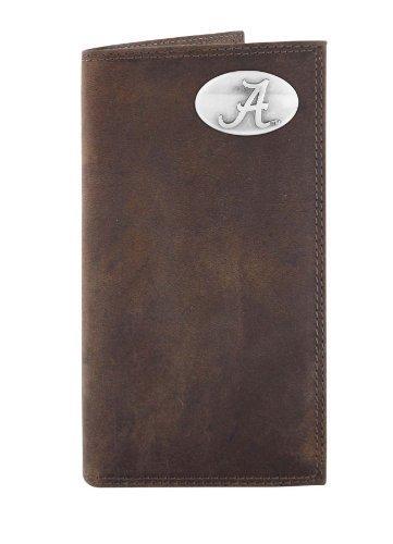 NCAA Alabama Crimson Tide Light Brown Crazyhorse Leather Roper Concho Wallet One Size