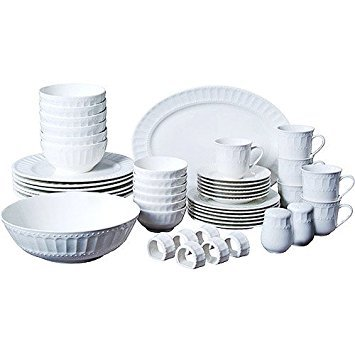 46-piece Dinnerware and Serveware Set, Fine China Set for 6 - Dinner Piece 46 Set