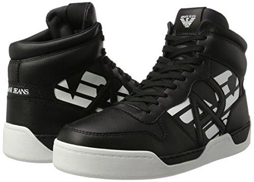 Armani Jeans High Top Mens Sneakers Black Black 8i8Q1m