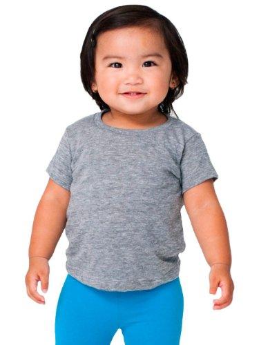 American Apparel Kids Infant Tri-Blend Short Sleeve T-Shirt Size 12-18M Athletic - Blend T-shirt Tri