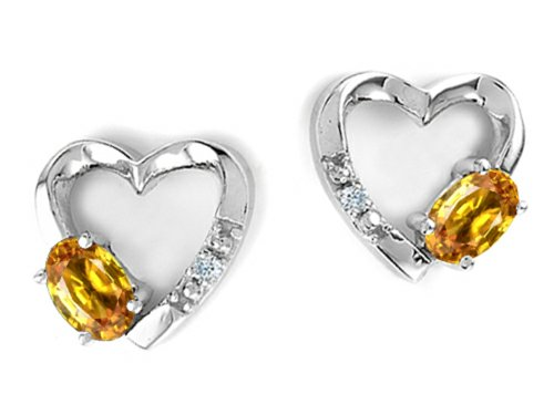 3 Mm Citrine Heart - 5