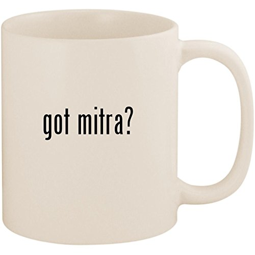 got mitra? - 11oz Ceramic White Coffee Mug (Mitre Cup)