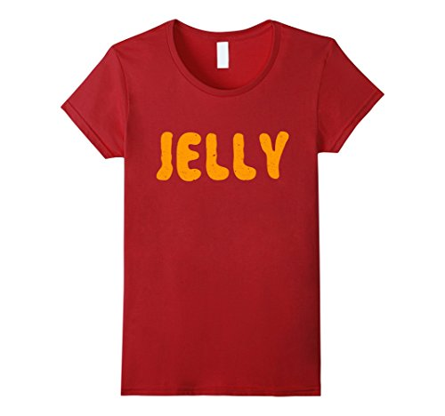 Womens Jelly T-Shirt Matching Halloween Costume XL Cranberry (Cool Couple Halloween Costumes 2017)