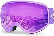 Kids Ski Goggles, Kids Snowboard Goggles for Boys Girls Toddler Age 3-10