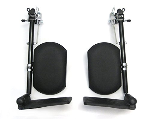 Karman Universal Elevating Legrest for Wheelchair, Black, INV Style