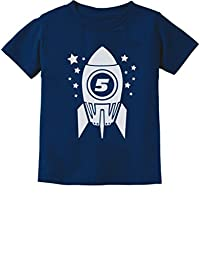 Gift for Five Year Old 5th Birthday Space Rocket Toddler/Infant Kids T-Shirt