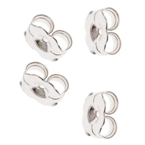 Price comparison product image Beadaholique 5005150 12-Piece Sterling Earring Backs,  5.5mm,  Silver