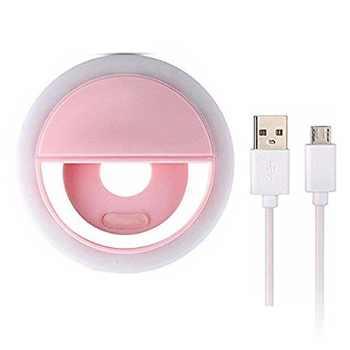 KAMII Selfie Ring Light - 3-Level Brightness Selfie Light LED for iPhone 7 Plus/ 6S Plus/ 6S/ 5S