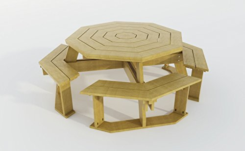 Cheap  Build Your Own Octagon Picnic Table Benches Plans DIY Outdoor Patio Furniture
